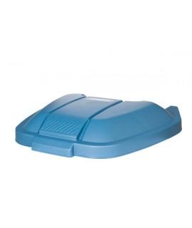 REFUSE BIN ON WHEELS LID 100L, BLUE
