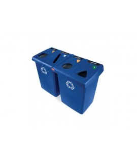 GLUTTON RECYCLING STATION BLUE 348L