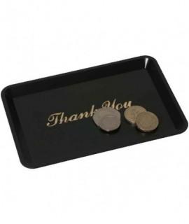 """Tip Tray 'Thank You' 4.1/2""""X6.1/2"""" Black"""