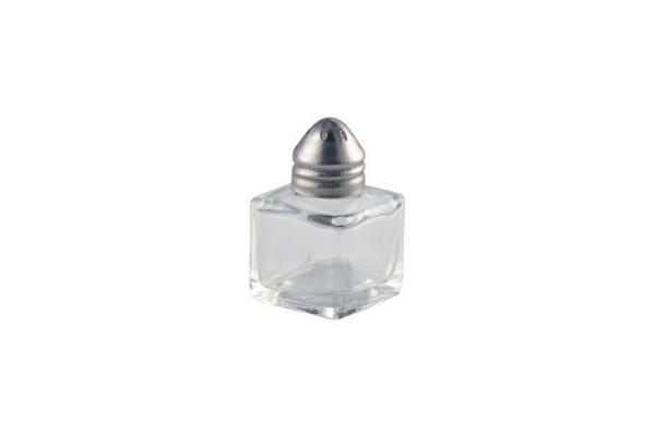 Individual Glass Pepper Pot 20 X 20 X 55mm