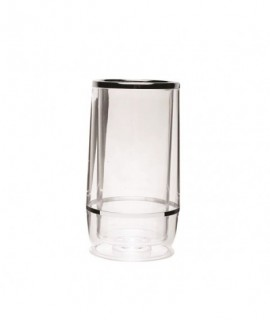 Clear Acrylic Wine Cooler Chrome Trim