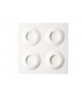 Square tray - 4 compartments - Curry
