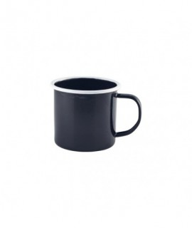 Enamel Mug Black with White Rim 36cl/12.5oz