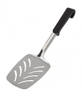 Genware Plastic Handle Slotted Turner Black