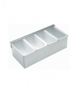 Stainless Steel Dispenser 4 Compartment