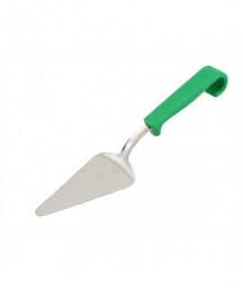 Genware Plastic Handle Cake Server Green