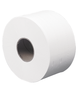 MINI JUMBO TOILET ROLL TWIN CORE (12)