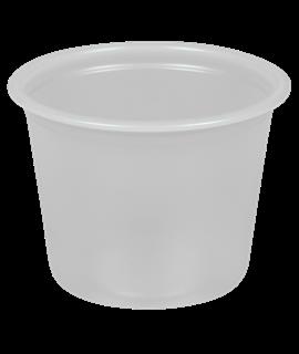 2OZ CLEAR PLASTIC PORTION CUP C/W LID (PK-250)
