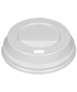 WHITE DOMED SIP-THRU LID TO FIT 12-16OZ CUP (CTN-1000)