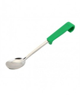 Genware Plastic Handle Small Spoon Green
