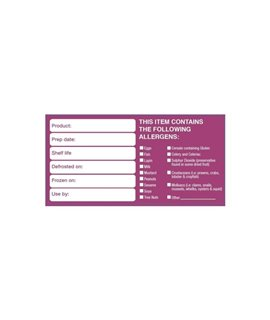 50 X 100MM REMOVABLE ALLERGEN LABEL (500)