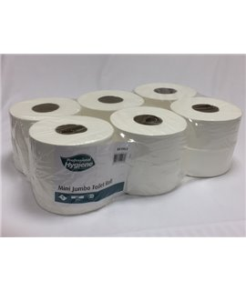 MINI JUMBO TOILET ROLL 1PLY 300M (PACK-12)