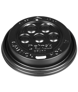 BLACK LID FOR 12/16/20OZ DISPOSABLE CUP (PK-100)