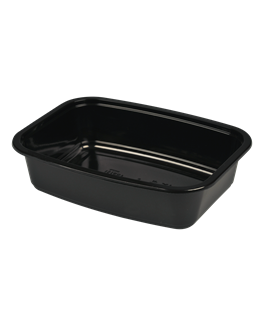 BLACK PP TAKEAWAY CONTAINER + LID (CTN-380)