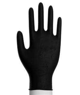 BLACK NITRILE POWDEFREE GLOVES LARGE (100)