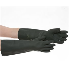 BLACK HD RUBBER GAUNTLET (XL) PAIR