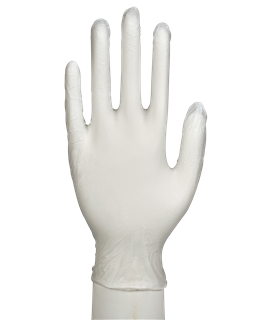 CLEAR VINYL POWDER FREE GLOVE MED (PK-100)