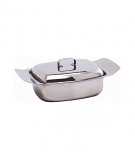 Stainless Steel Butter Dish & Lid 250G (0.5Lb)