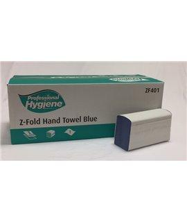 Z FOLD HAND TOWEL 1PLY BLUE (CTN-3000)