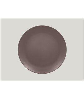 Flat coupe plate - Chestnut Brown