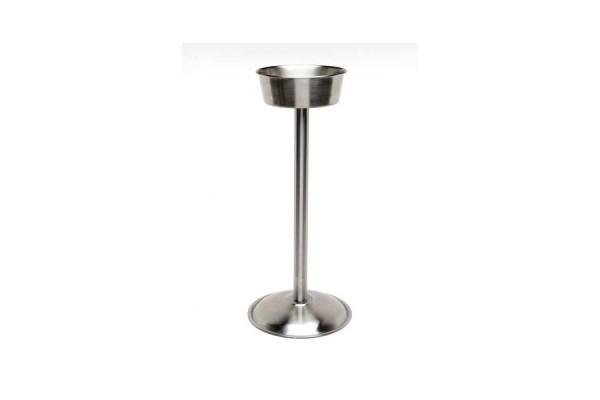 "Stainless Steel Wine Bucket Stand (Satin) 18"""