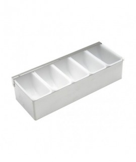 Stainless Steel Dispenser 5 Compartment