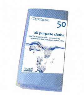 All-Purpose Cloth 60X30cm Blue (50Pcs)
