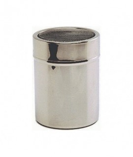 Stainless Steel Shaker With Mesh Top.(Plastic Cap)