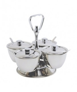 Stainless Steel Revolving Relish Server 3-Way (62399) **