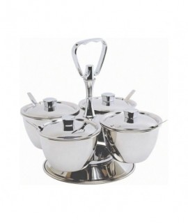 Stainless Steel Revolving Relish Server 4-Way (66277)