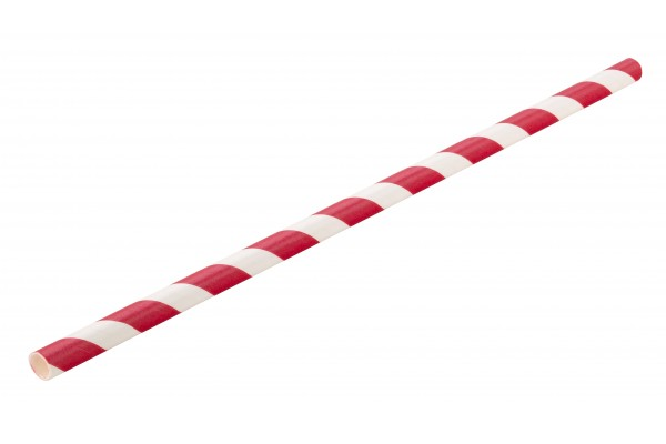 Paper Red Stripe Straw