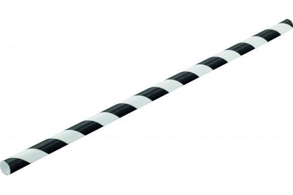 Paper Black Stripe Straw