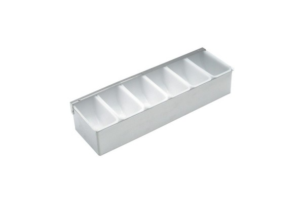 Stainless Steel Dispenser 6 Compartment