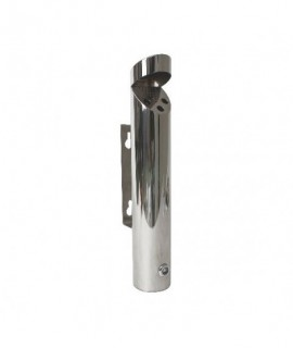 Cylinder Wall-Mounted Stainless Steel  Ashtray 46X7.5cm