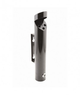 Cylinder Wall-Mounted Black Ashtray 46X7.5cm