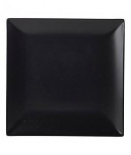 Luna Square Coupe Plate 18cm Black Stoneware