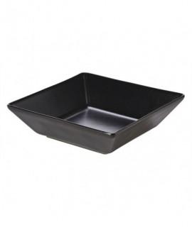 Luna Square Bowl 17.5 x 5cm H Black Stoneware