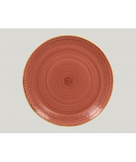 Flat coupe plate - coral