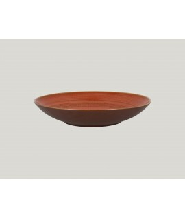Deep coupe plate - coral