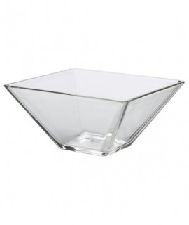Square Glass Bowl 20 x 8cm H