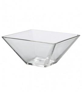 Square Glass Bowl 20 x 8cm H