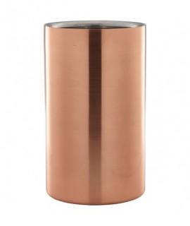 Copper Wine Cooler 12cm Dia X 20cm High