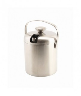 Genware Insulated Stainless Steel Ice Bucket&Tong 1.2L