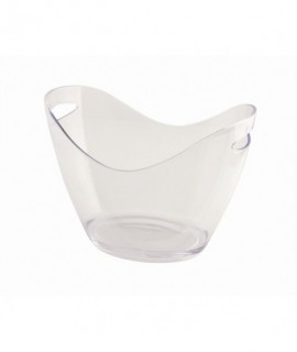 Clear Plastic Champagne Bucket Large
