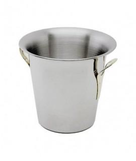 Stainless Steel Wine Bucket Tulip Design -Stainless Steel Handles