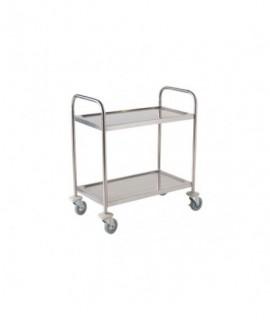 Fully Welded Stainless Steel Trolley - 2 Shelves